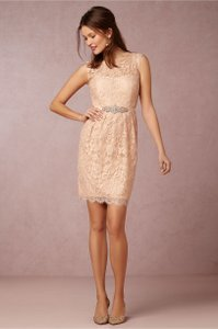 BHLDN Blush Pink Lace Harlow Jenny Yoo Feminine Bridesmaid/Mob Dress Size 4 (S)