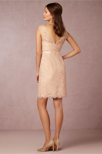 BHLDN Blush Pink Lace Harlow Jenny Yoo Feminine Bridesmaid/Mob Dress Size 4 (S) Image 2