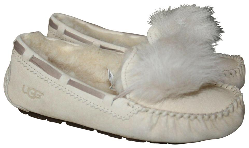 32a9a3e17b9 UGG Australia Cream Off White Dakota Suede Shearling Fluff Pom Slippers  Mules/Slides Size US 8 Regular (M, B) 35% off retail