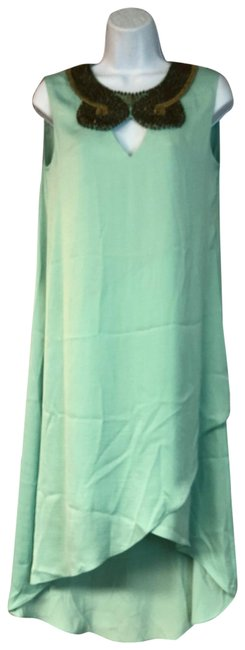 Item - Mint Green XS Embellished Neck Poly Midi Mid-length Night Out Dress Size 2 (XS)