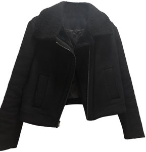 Vince Shearling Moto Motorcycle Jacket
