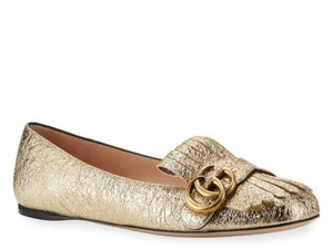 Gucci Loafers Marmont Gold Flats