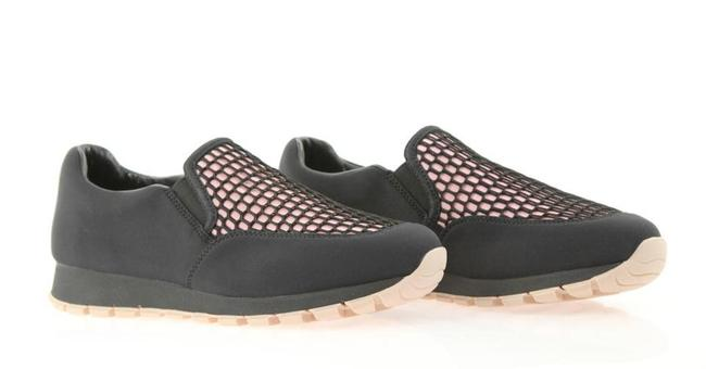 Item - Black Neoprene Fabric Pink Inset 3s6140 Mesh Slip On Sneakers Size EU 40 (Approx. US 10) Regular (M, B)