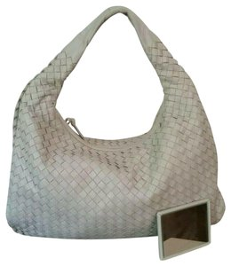 Bottega Veneta Woven Lambskin Leather Intreciatto Hobo Bag