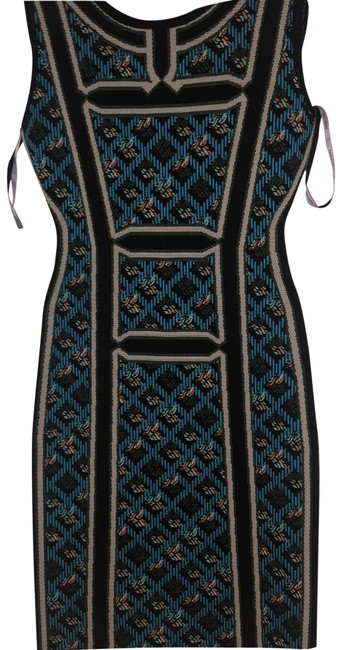 Item - Black and Blue 12345 Mid-length Cocktail Dress Size 4 (S)