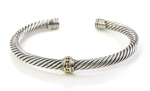David Yurman David Yurman Cable Classic Single Gold Station Bracelet