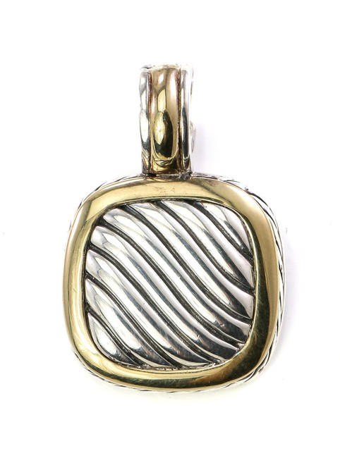 Item - 18k Gold and Sterling Silver Albion Pendant Charm