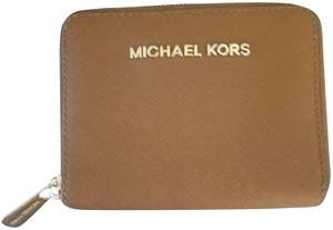 Michael Kors Michael Kors Luggage Brown Saffiano Leather Wallet