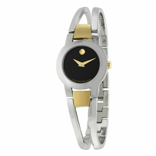 Preload https://img-static.tradesy.com/item/25460846/movado-blacksilvergold-women-s-amorosa-dial-stainless-steel-0606893-watch-0-0-540-540.jpg
