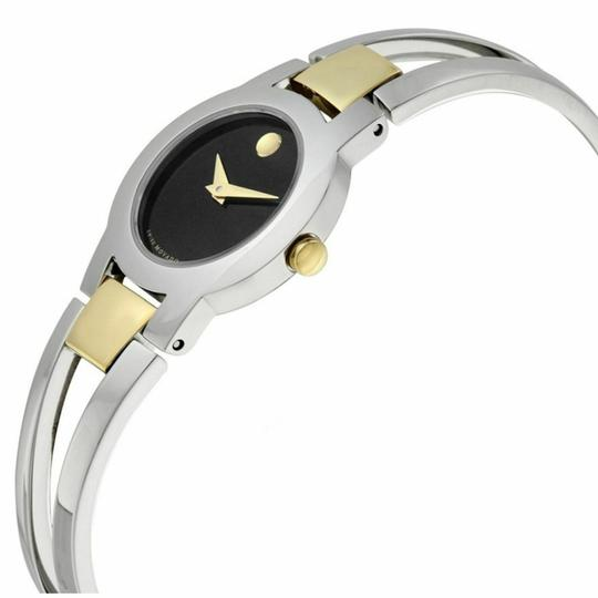 Movado Movado Women's Amorosa Black Dial Stainless Steel Watch 0606893 Image 2