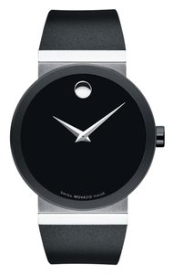 Movado Movado Men's Sapphire Synergy Black Rubber Watch 0606780