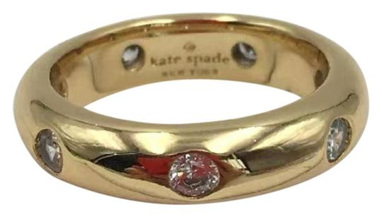 Preload https://img-static.tradesy.com/item/25461108/kate-spade-gold-ks-new-york-band-clear-crystal-chunky-solid-band-size-7-ring-0-2-540-540.jpg