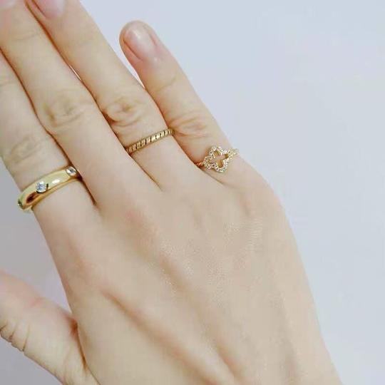 Kate Spade KS New York Gold Band Clear Crystal Chunky Solid Band Ring Size 7 Image 4