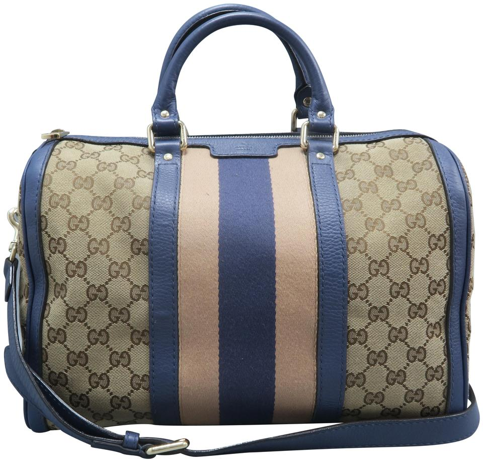 0beb22ab0 Gucci Boston Gg Web Canvas Satchel in Multicolor Image 0 ...