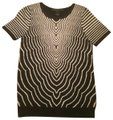 Marc by Marc Jacobs Sweater Striped Pattern Print Designer T Shirt black/white Image 0