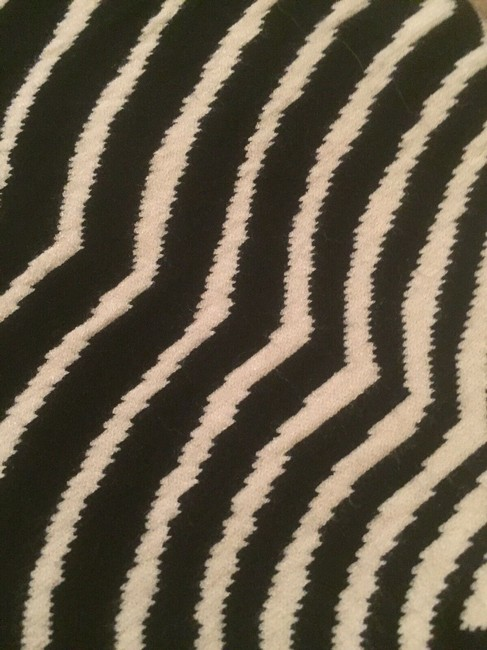 Marc by Marc Jacobs Sweater Striped Pattern Print Designer T Shirt black/white Image 1