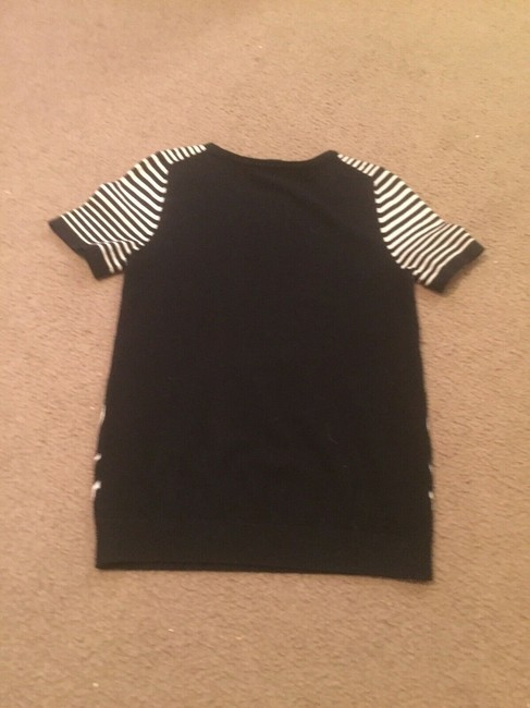 Marc by Marc Jacobs Sweater Striped Pattern Print Designer T Shirt black/white Image 2