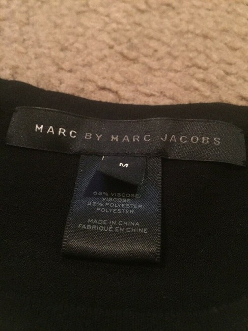 Marc by Marc Jacobs Sweater Striped Pattern Print Designer T Shirt black/white Image 3