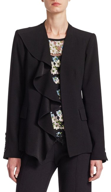 Item - Black Final Act Jacket Button-down Top Size 6 (S)