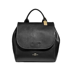 Coach New Leather Pebbled Leather Crossbody Backpack