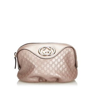 Gucci 9egupo001 Vintage Leather Wristlet in Pink
