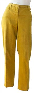 Loro Piana Capris Cropped Relaxed Pants Yellow
