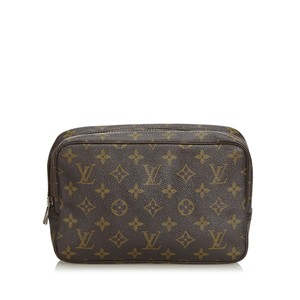 Louis Vuitton 9clvcl009 Vintage Coated Canvas Wristlet in Brown