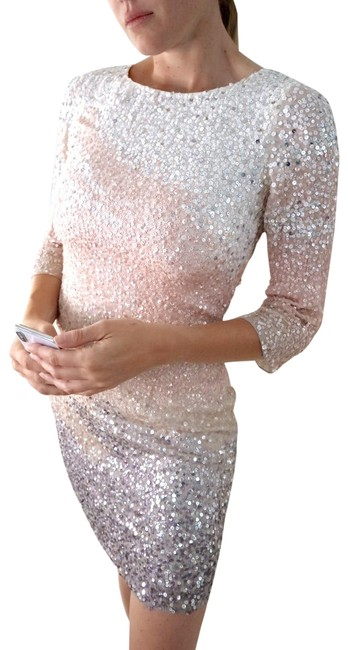 Item - Pink Ombre Sequin Short Night Out Dress Size 2 (XS)