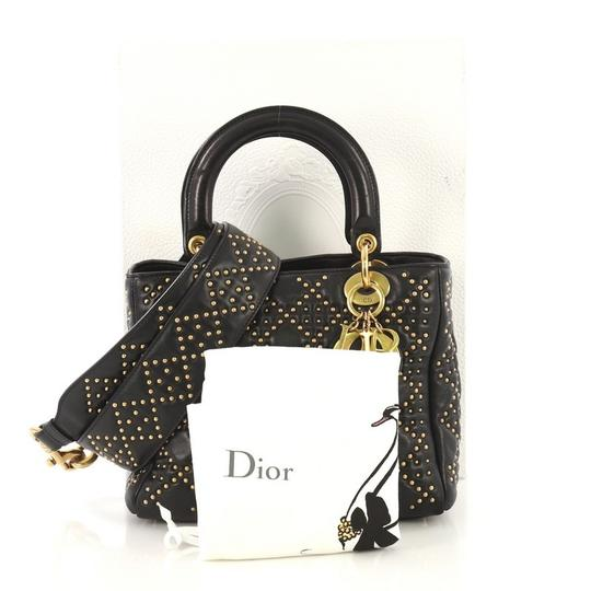 Dior Christian Leather Tote in black Image 1