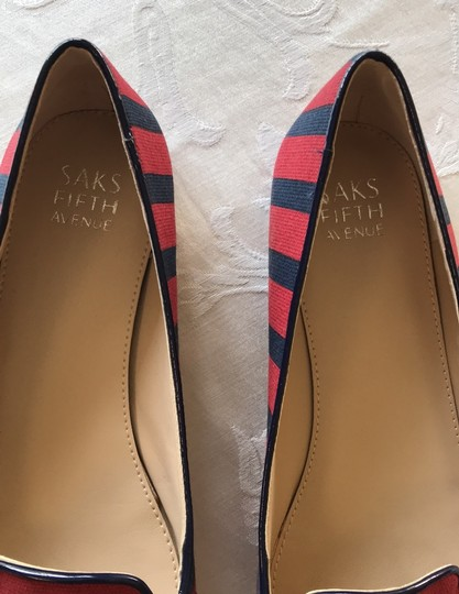 Saks Fifth Avenue midnight/chili red Flats Image 2