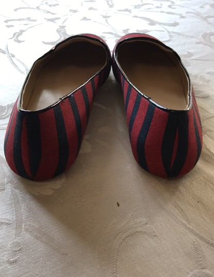 Saks Fifth Avenue midnight/chili red Flats Image 3