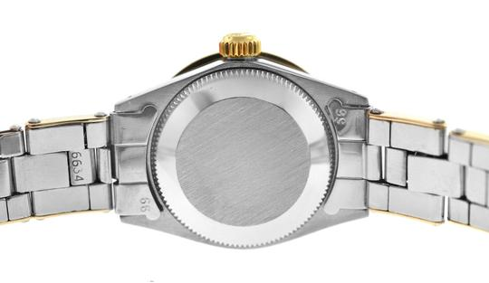 Rolex Ladies Rolex Oyster Perpetual Date 6517 Steel & Gold Diamond MOP 26MM Image 5