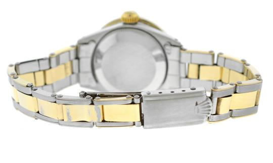 Rolex Ladies Rolex Oyster Perpetual Date 6517 Steel & Gold Diamond MOP 26MM Image 6