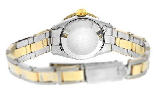 Rolex Ladies Rolex Oyster Perpetual Date 6517 Steel & Gold Diamond MOP 26MM Image 7