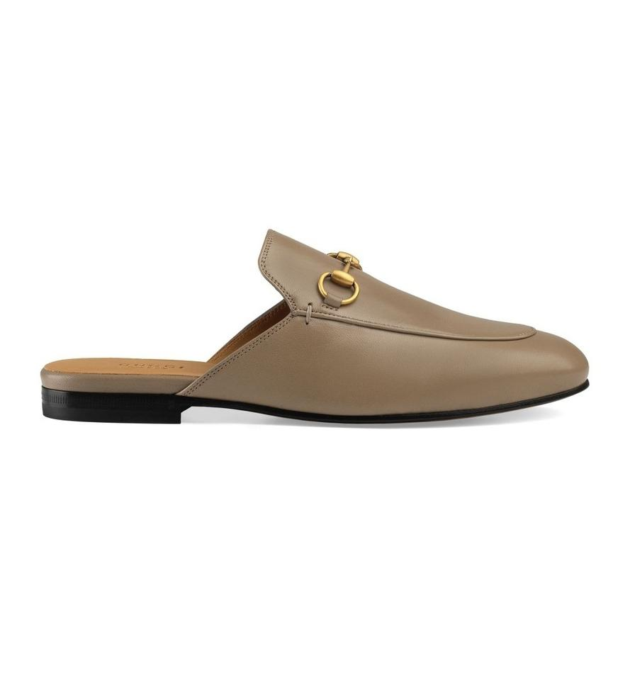 251084f53 Gucci Brown New Princetown Leather Slippers Is 11 Mules/Slides Size ...