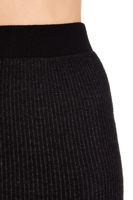 ATM Anthony Thomas Melillo Wool Ribbed Elastic Knit Skirt Black Image 2