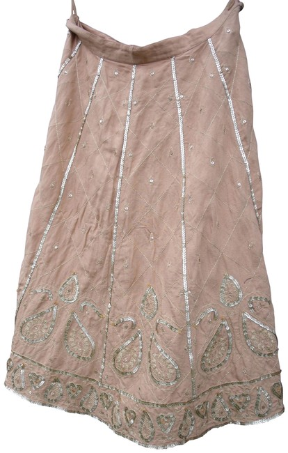 Preload https://img-static.tradesy.com/item/25462274/wdny-tan-boho-with-gold-sequins-skirt-size-10-m-31-0-1-650-650.jpg