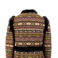 Valentino Tribal Print Mink Trim Fur Coat Image 4