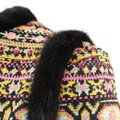 Valentino Tribal Print Mink Trim Fur Coat Image 5
