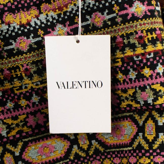 Valentino Tribal Print Mink Trim Fur Coat Image 8