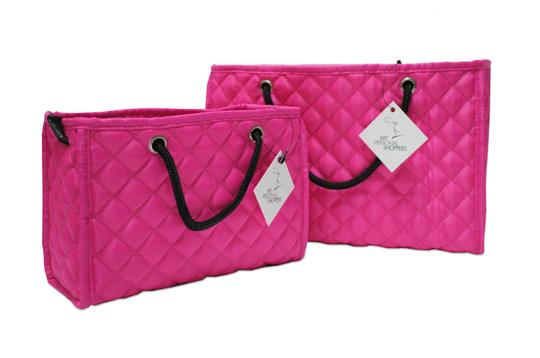 Preload https://img-static.tradesy.com/item/25462492/zoe-quilted-handbag-organizer-insert-with-removable-base-2-pack-fuchsia-pink-polyester-satin-tote-0-0-540-540.jpg