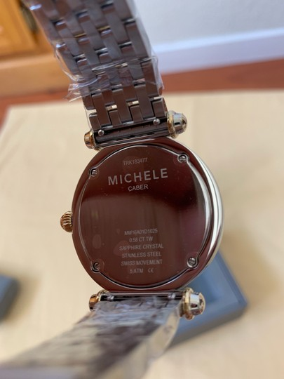 Michele $2295 NWT Caber Diamond MOP Two Tone Gold Watch MWW16A000066 Image 10