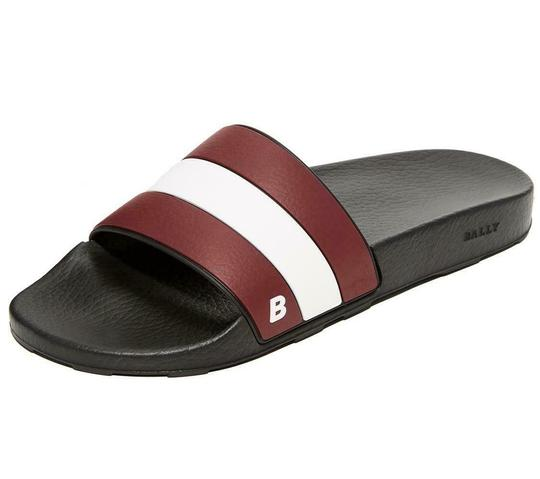 Preload https://img-static.tradesy.com/item/25462552/bally-black-sleter-red-striped-rubber-logo-sandal-slides-d-10-us-43-italy-shoes-0-0-540-540.jpg