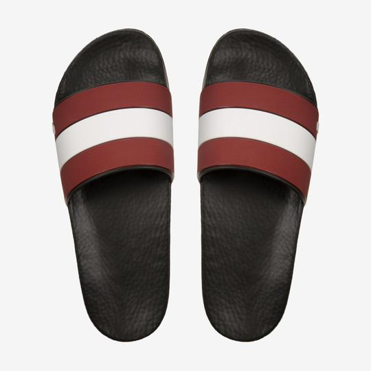 Bally Black Sleter Red Striped Rubber Logo Sandal Slides D 10 Us 43 Italy Shoes Image 3