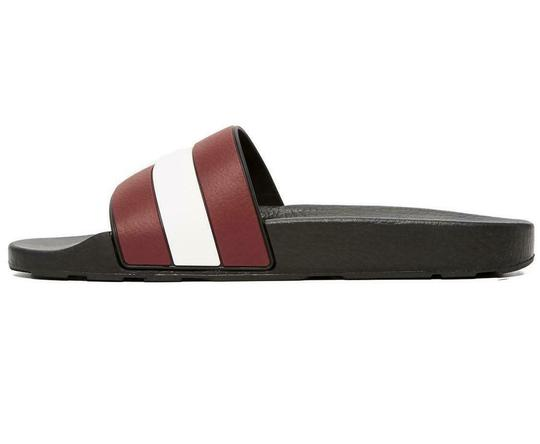 Bally Black Sleter Red Striped Rubber Logo Sandal Slides D 10 Us 43 Italy Shoes Image 5