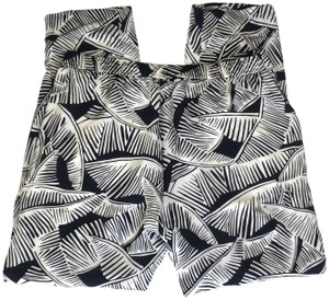 Theory Relaxed Pants black and white