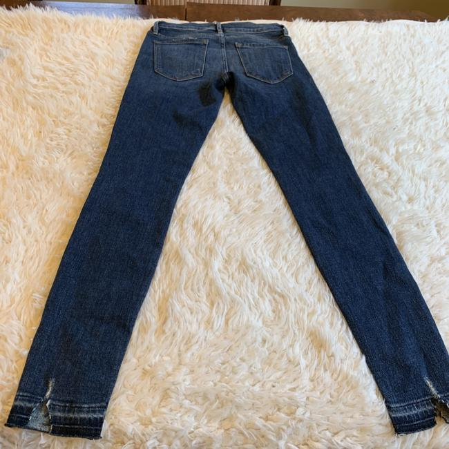 FRAME Distressed Raw Denim Skinny Jeans Image 3
