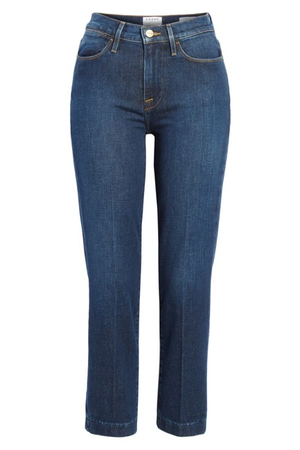 FRAME Denim Dark High Straight Leg Jeans Image 0