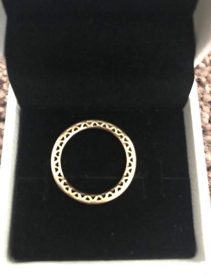 Pandora New with tags never worn Class Hearts 14kt yellow gold Image 3