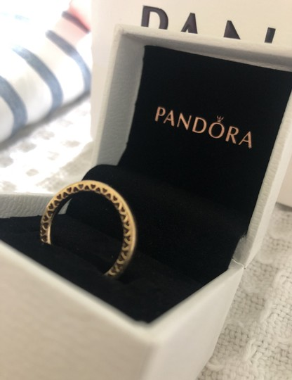 Pandora New with tags never worn Class Hearts 14kt yellow gold Image 5